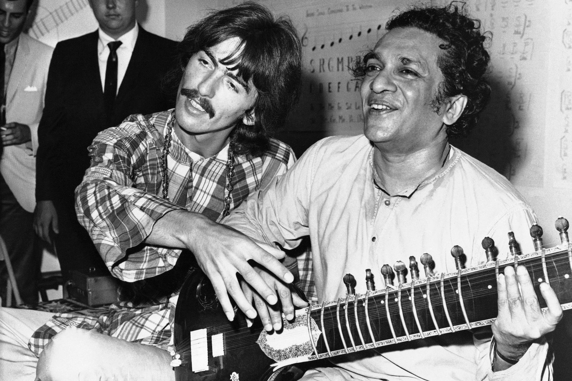 George Harrison and his musical mentor Ravi Shankar in 1967AP