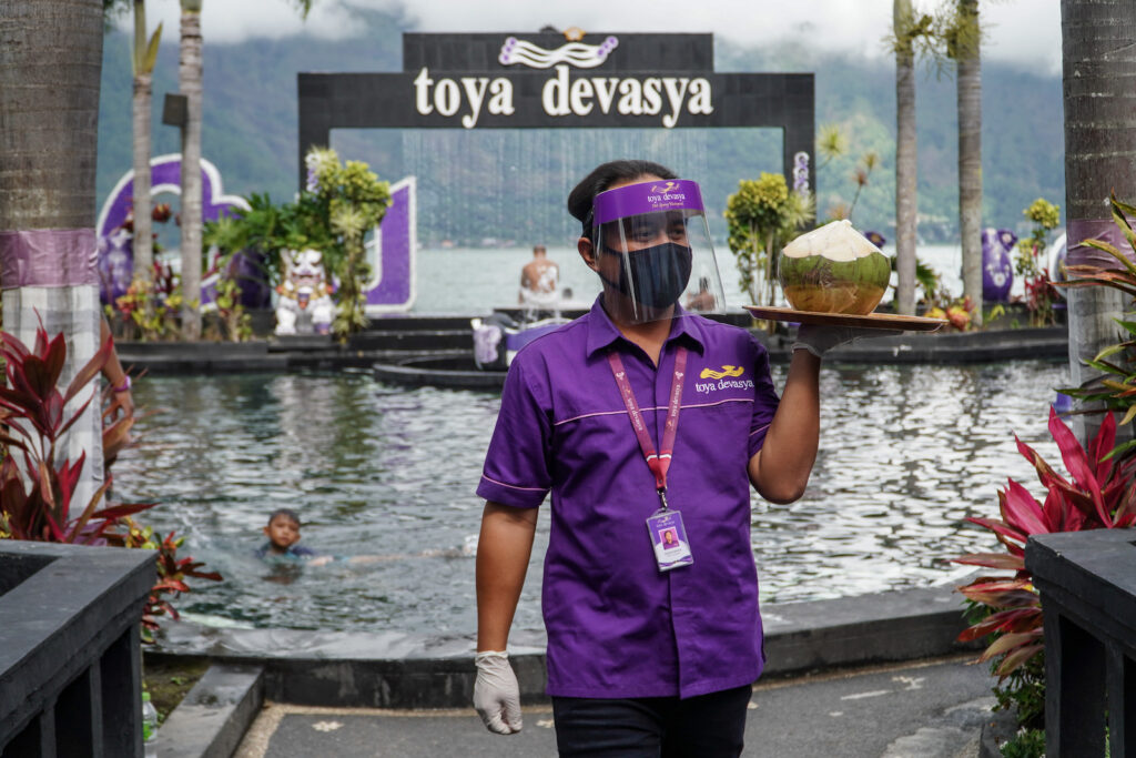New Normal di Toya Devasya Natural Hot Spring Water Park Bali