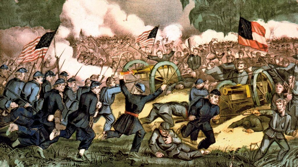 Battle of GettysburgThe Battle of Gettysburg (1863), lithograph by Currier & Ives.Library of Congress, Washington, D.C. (LC-USZC4-2088)