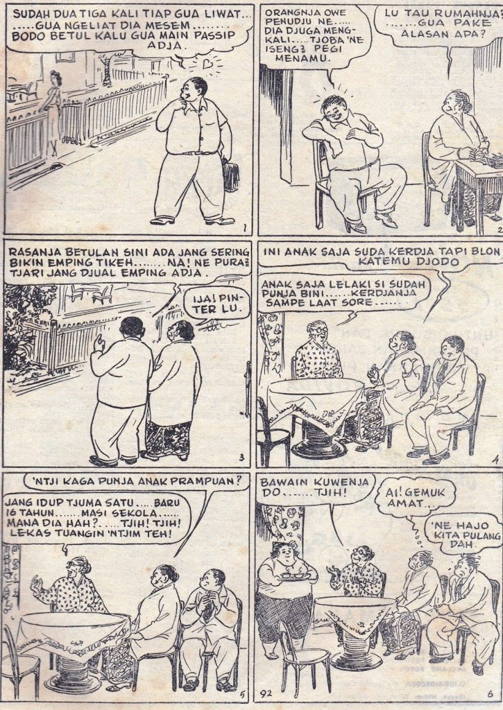 Put On - Komik Strip Karya Kho Wang Gie. Terbit Sejak 1931 di Harian Sin Po.